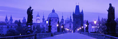 Statues Along A Bridge, Charles Bridge Poster by Panoramic Images