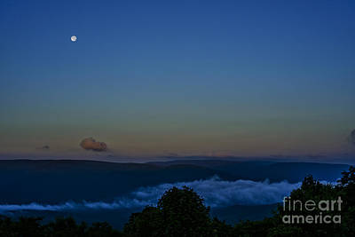 Stawberry Moon Allegheny Ridges Poster by Thomas R Fletcher
