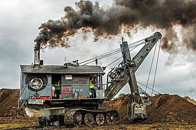 Steam Shovel Poster by Paul Freidlund