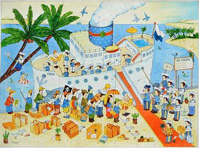 Steamer, 2003 Wc On Paper Poster by Christian Kaempf