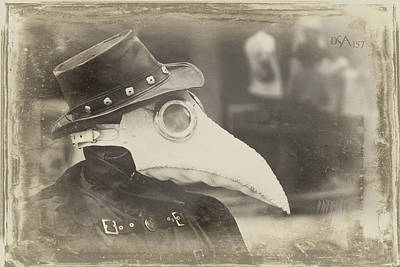 Steampunk Plague Doctor Poster by David April