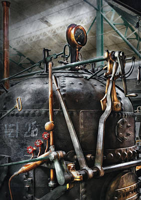 Steampunk - The Steam Engine Poster by Mike Savad