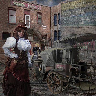 Steampunk Welcome To The Oasis In Wallace Idaho Poster by Jeff Burgess