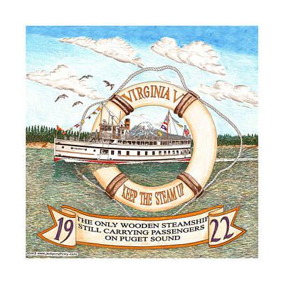1922 Steamship Virginia V Poster by Jack Pumphrey