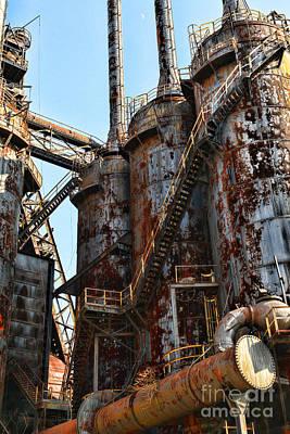 Steel Mill Blast Furnace Poster by Paul Ward