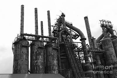Steel Stacks Blast Furnace Poster by Paul Ward