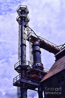 Steel Stacks Reaching Towards The Sky Poster by Paul Ward