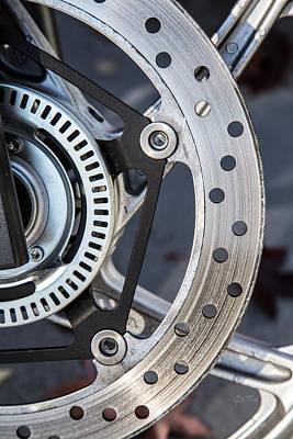 Steel Wheel Abstract Poster by Eti Reid