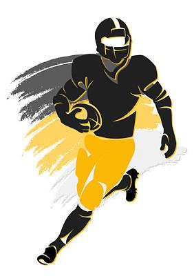 Steelers Shadow Player2 Poster by Joe Hamilton