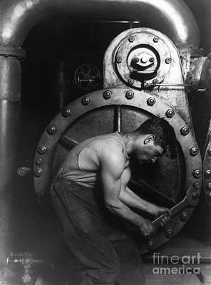 Steelworker Poster by Photo Researchers Inc