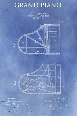 Steinway Piano Patent Poster by Dan Sproul