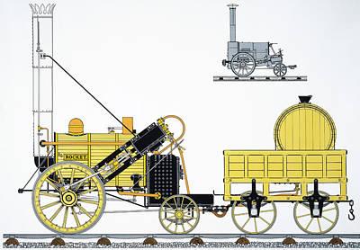 Stephensons Rocket, 1829 Poster by Granger