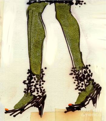 Stepping Out With My Baby Poster by Carolyn Weltman