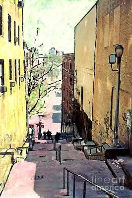 Steps At 187 Street Poster by Sarah Loft