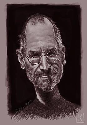 Steve Jobs Poster by Andre Koekemoer