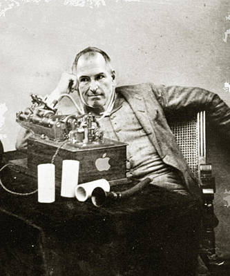 Steve Jobs As Edison Poster by Tony Rubino