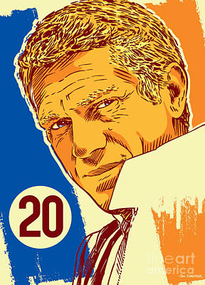 Steve Mcqueen Pop Art - 20 Poster by Jim Zahniser