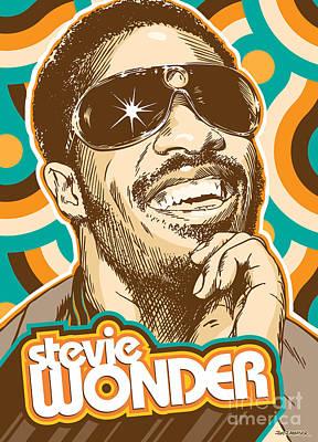 Stevie Wonder Pop Art Poster by Jim Zahniser
