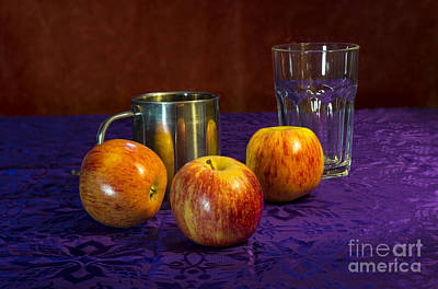 Still Life Apples Poster by Donald Davis