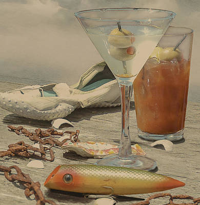Still Life - Beach With Curves Poster by Jeff Burgess