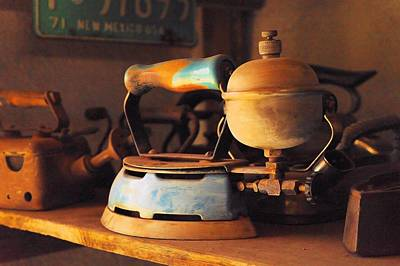 Still Life Of An Old Steam Iron Poster by Jeff Swan