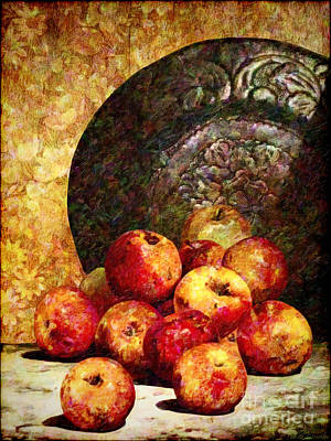 Still Life With Apples Poster by Lianne Schneider