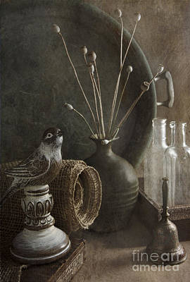 Still Life With Bird Poster by Elena Nosyreva