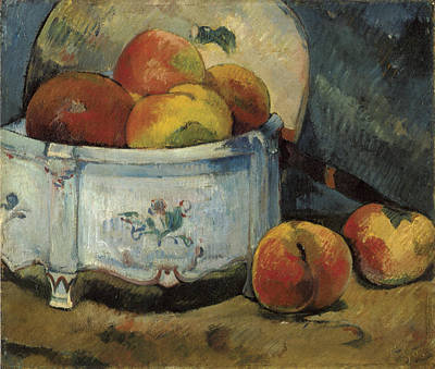 Still Life With Peaches Poster by Paul Guaguin