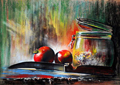 Still Life With Tomatoes Poster by James Skiles