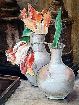 Still Life With Tulips Poster by Irina Sztukowski
