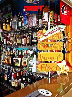 Stocked Bar At Jax Poster by Joan Meyland