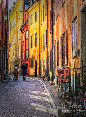 Stockholm Gamla Stan Painting Poster by Antony McAulay
