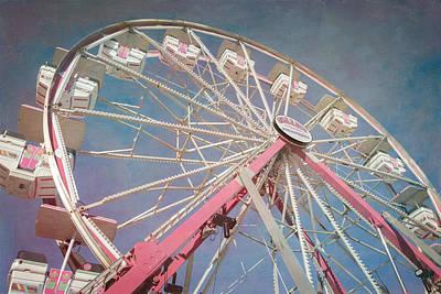 Stock Show Ferris Wheel Poster by Joan Carroll