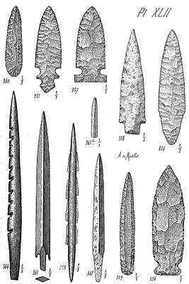Stone Age Flint Tools, North American Poster by Wellcome Images