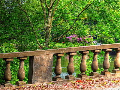 Stone Balustrade Poster by Susan Tinsley