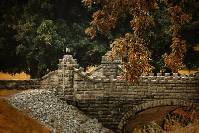 Stone Bridge In Autumn Poster by Jai Johnson