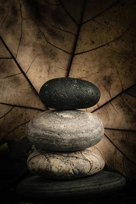 Stone Cairns II Poster by Marco Oliveira