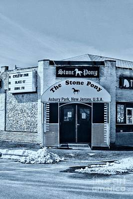 Stone Pony Cool Blue Enter Here Poster by Paul Ward