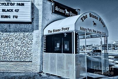 Stone Pony Cool Blue Poster by Paul Ward