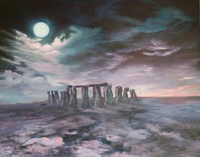 Stonehenge In Wiltshire Poster by Jean Walker