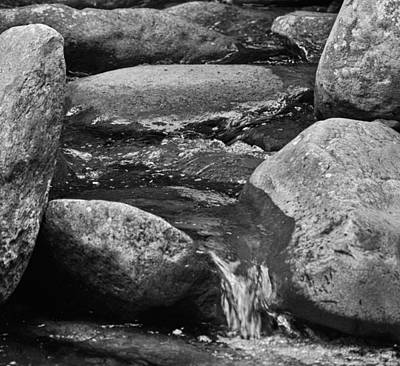 Stones Flow Bw Poster by Christi Kraft