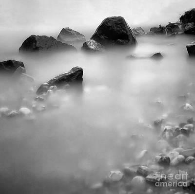 Stones In The Balaton Lake Poster by Odon Czintos