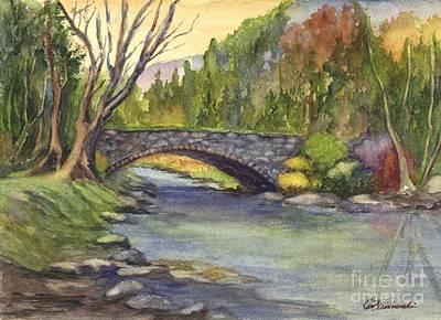 Autumn At Stoney Bridge Creek Poster by Carol Wisniewski