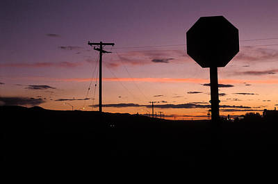 Stop For Sunset Poster by Elena Bouvier