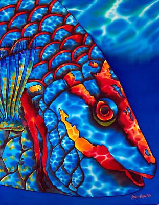 Stoplight Parrotfish Poster by Daniel Jean-Baptiste