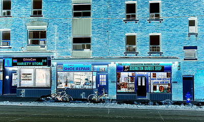 Stores On Ossington In Blue Poster by Valentino Visentini