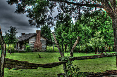 Storm At The Old Home Place Poster by Douglas Barnett