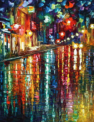 Storm In The City Poster by Leonid Afremov