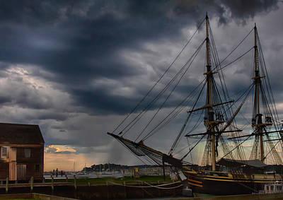 Storm Passing Salem Poster by Jeff Folger