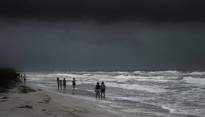 Stormy Beach Poster by Robert Johnson